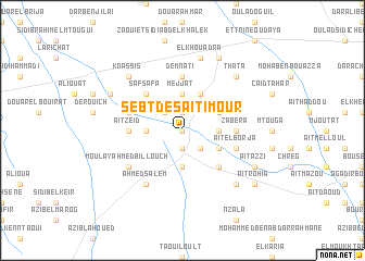 map of Sebt des Aït Imour