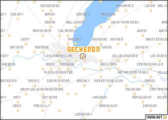 map of Sécheron
