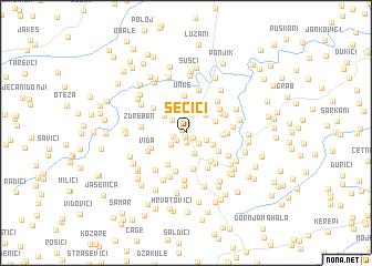 map of Šečići