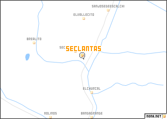 map of Seclantás