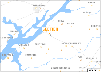 map of Section