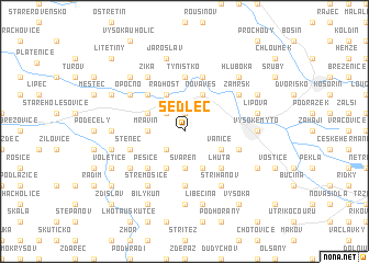 map of Sedlec