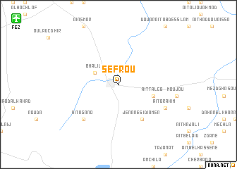map of Sefrou