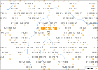 map of Segaung