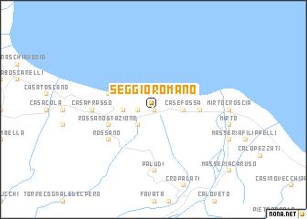 map of Seggio Romano
