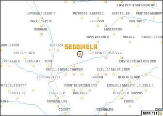 map of Segoviela