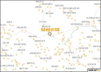 map of Šehovina