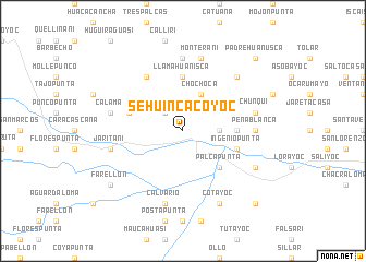 map of Sehuincacoyoc