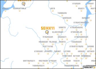 map of Seikkyi