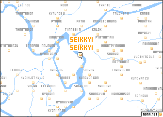 map of Seikkyi