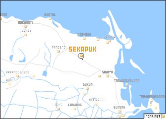 map of Sekapuk