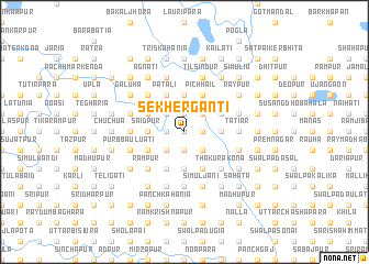 map of Sekhergānti
