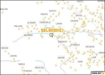 map of Selakovići