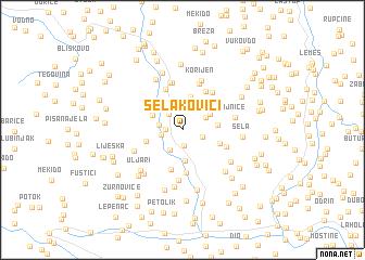 map of Selakovići