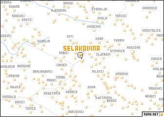 map of Selakovina