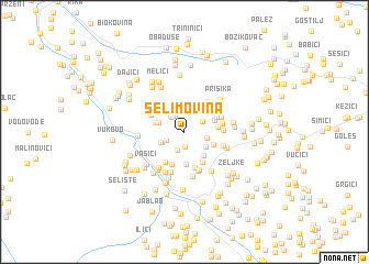 map of Selimovina