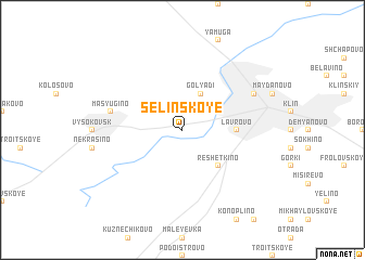 map of Selinskoye