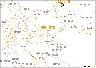 map of Selišta