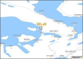 map of Selje