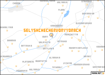 map of Selyshche Chervonyy Orach