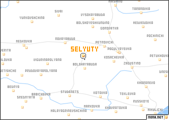 map of Selyuty