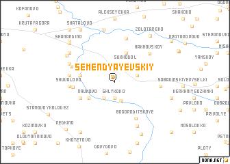 map of Semendyayevskiy