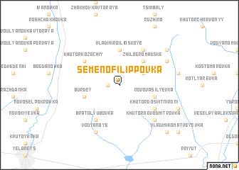 map of Semëno-Filippovka