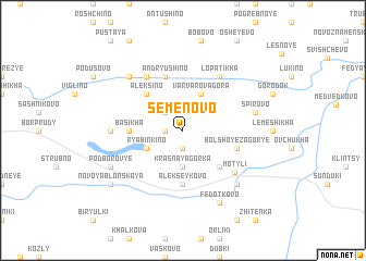map of Semënovo