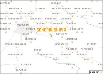 map of Semënovskaya