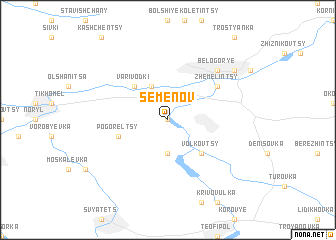 map of Semënov