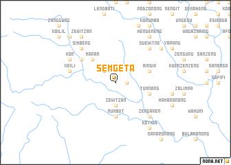 map of Semgeta