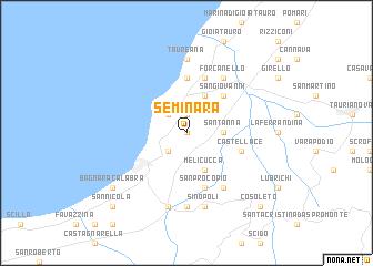 map of Seminara