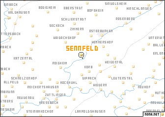 map of Sennfeld