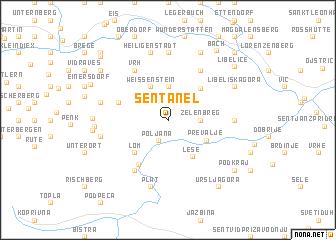map of Šentanel