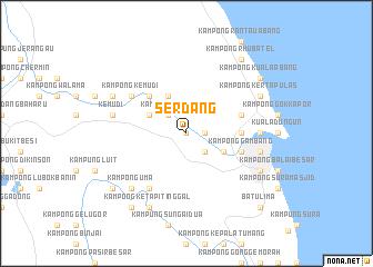 map of Serdang