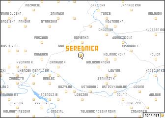 map of Serednica