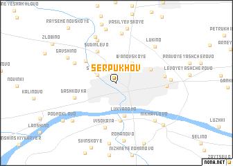 map of Serpukhov