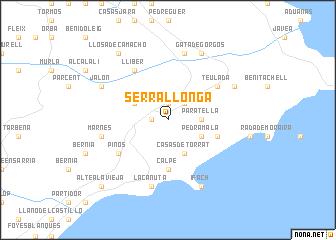 map of Serrallonga