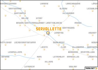 map of Servollette