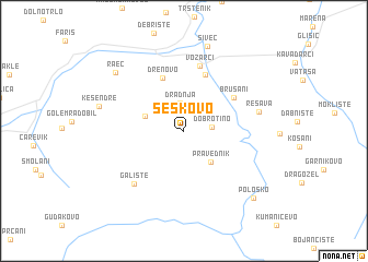 map of Šeškovo