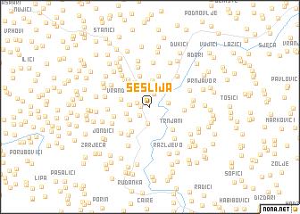 map of Šešlija