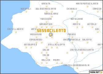 Cilento Region Italy Map.Sessa Cilento Italy Map Nona Net