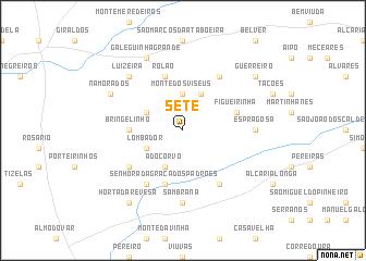 map of Sete