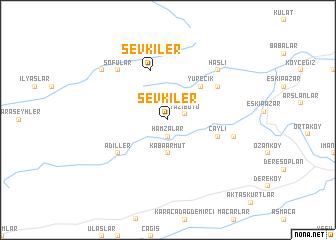map of Şevkiler