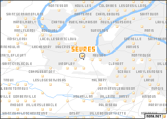 map of Sèvres