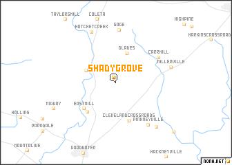 map of Shady Grove
