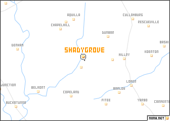 map of Shady Grove