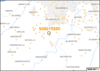 map of Shadynook