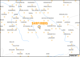 map of Shafī'ābād