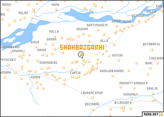 map of Shāhbāzgarhi